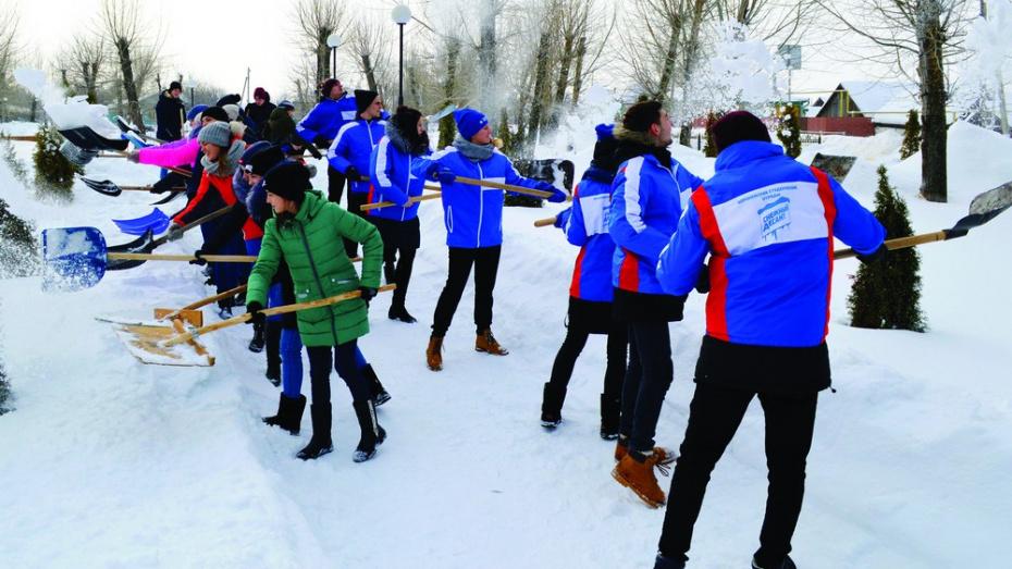 В Калачеевском районе впервые прошла патриотическая акция «Снежный десант»