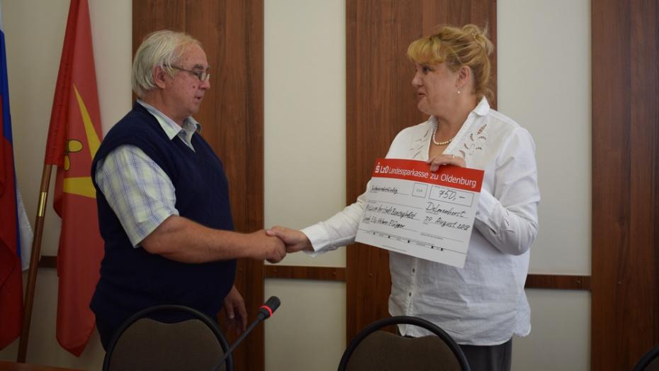 Борисоглебск получил сертификат на 1 250 евро от жительницы города-побратима Дельменхорста