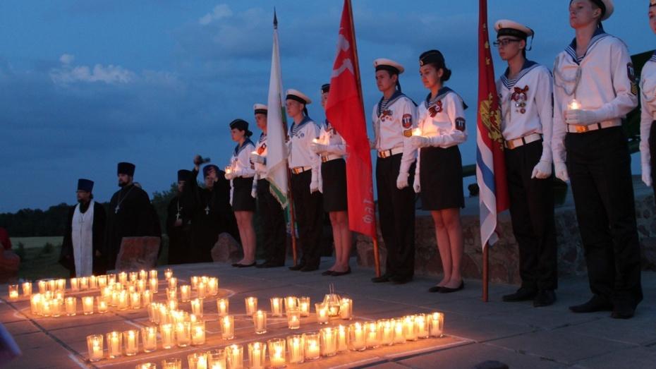 Верхнемамонцы приняли участие во всероссийской акции «Свеча памяти»