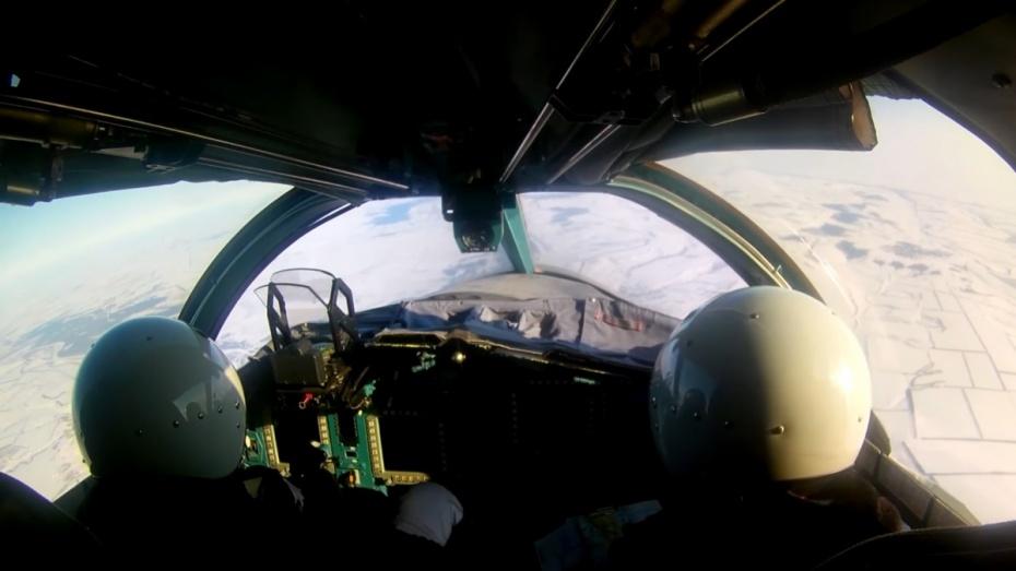 Минобороны опубликовало видео ракетно-бомбовых ударов Су-34 под Воронежем