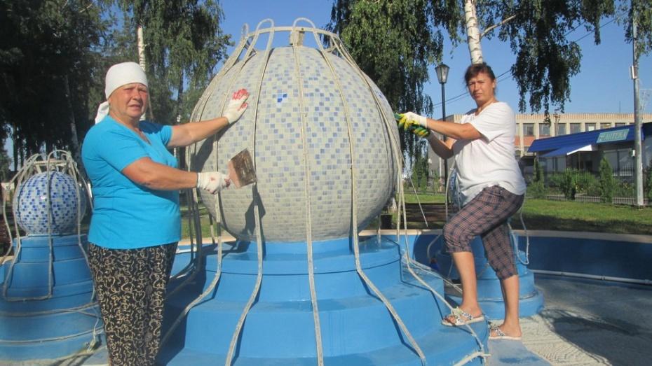 Фонтан в центре Панино почистят к Дню поселка