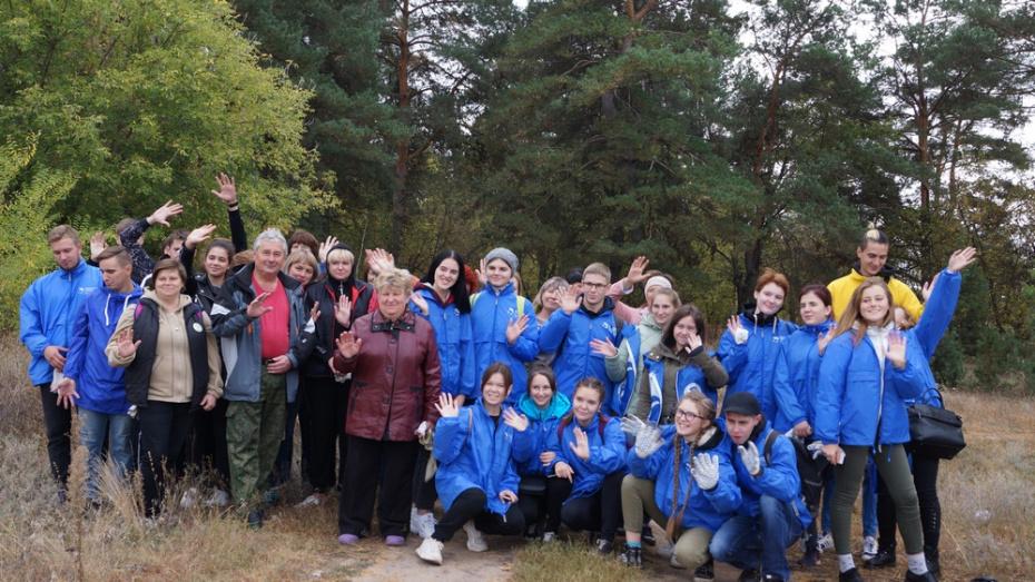 Хохольцы вместе с воронежскими волонтерами очистили сосновую рощу от мусора
