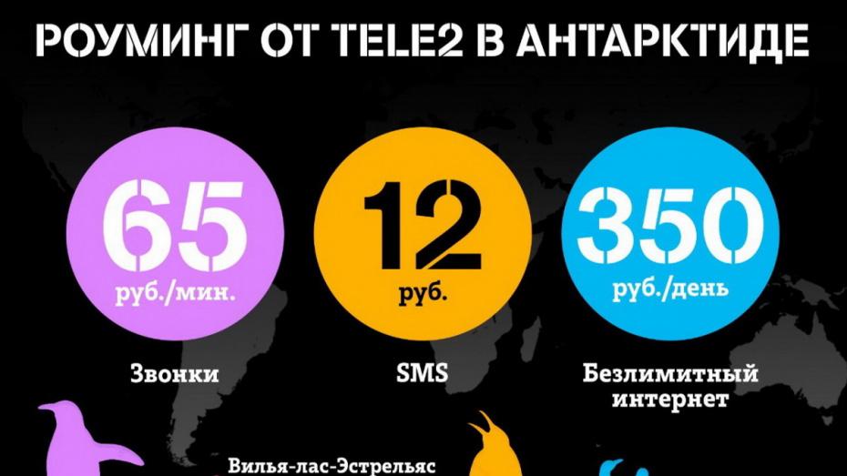 Tele2 первой из российских операторов запустила международный роуминг в Антарктиде