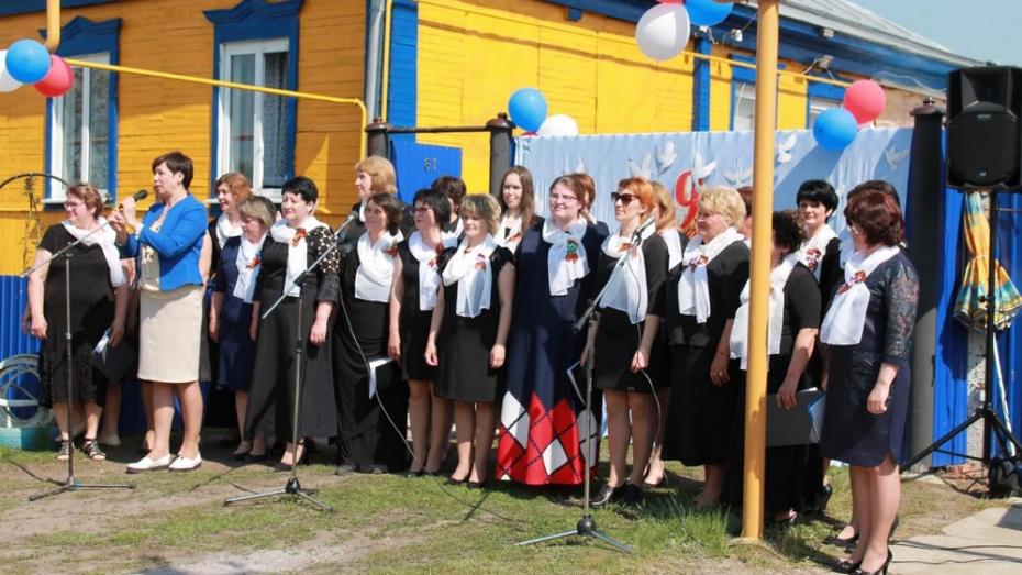 В павловском селе Воронцовка активисты впервые поздравили ветеранов ВОВ