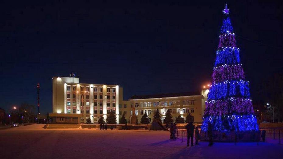 В Лисках 1 декабря приступят к установке главной городской елки