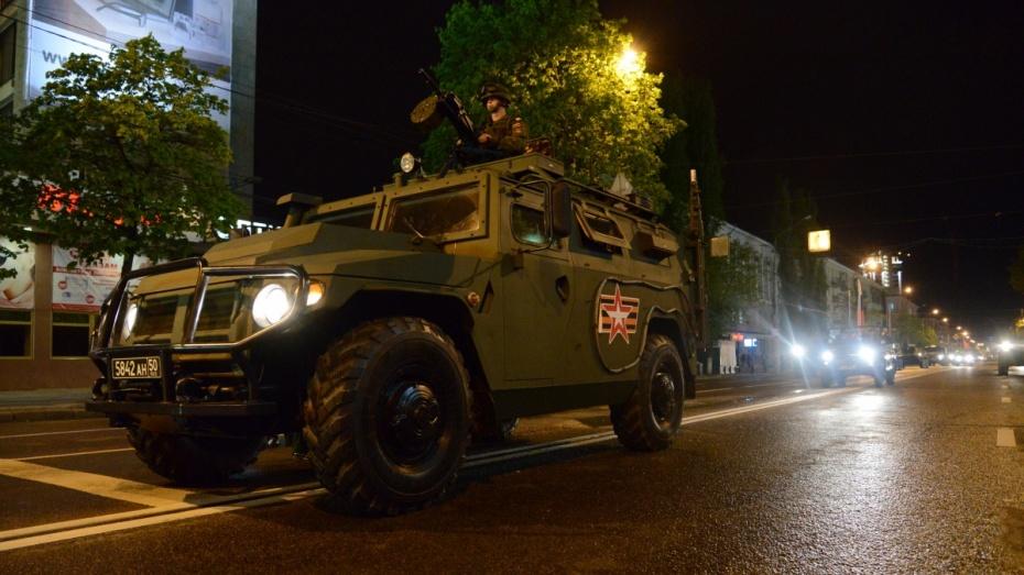 Десятки воронежцев увидели репетицию парада Победы с военной техникой