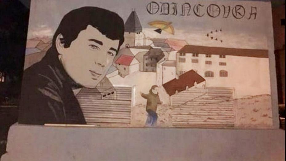 ВВоронеже появилось граффити сактером фильма «Брат» Сергеем Бодровым