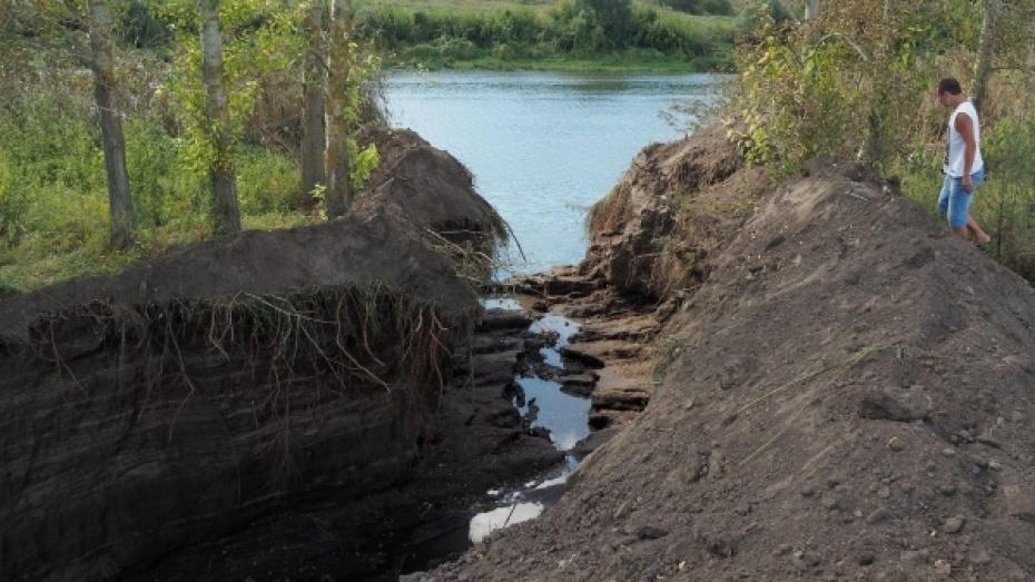 Ущерб от попытки осушения озера Круглое под Воронежем составил 13 млн рублей