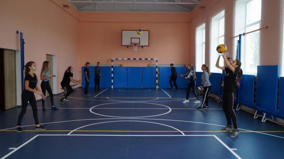 В петропавловском селе Красноселовка капитально отремонтировали школьный спортзал