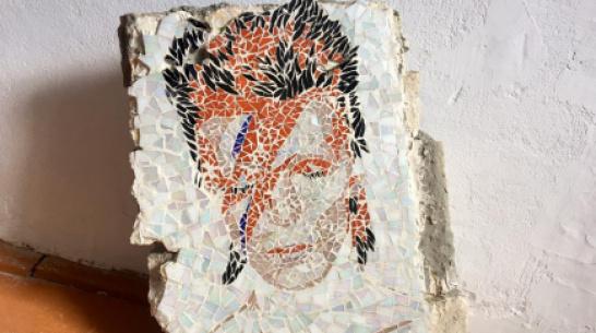 Воронежская художница восстановила разрушенную мозаику с Дэвидом Боуи