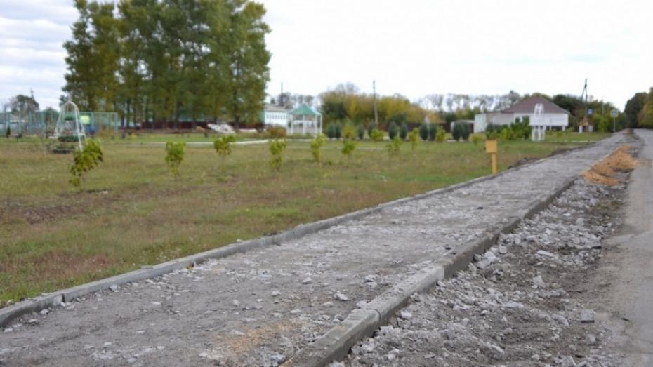 В лискинском селе Нижний Икорец на строительство тротуара потратят около 3,8 млн рублей