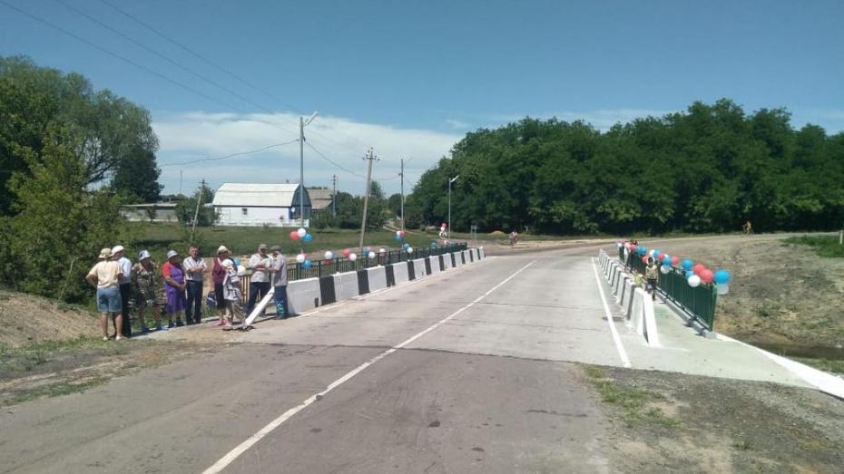 В подгоренском хуторе Суд-Николаевка после ремонта возобновили движение по мосту