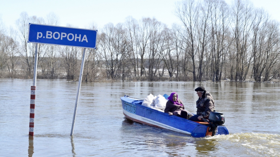 В Грибановском районе открыли переправу через реку Ворона