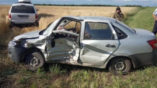 В Воронежской области 83-летний водитель «Лады Гранты» не уступил дорогу и погиб в ДТП