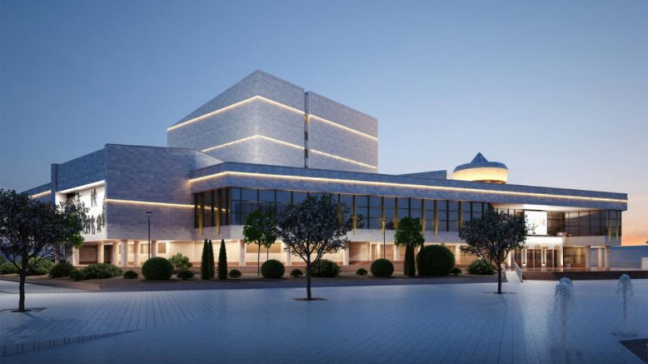 Оформление фасада здания Воронежского концертного зала закончат до 1 октября 2019 года