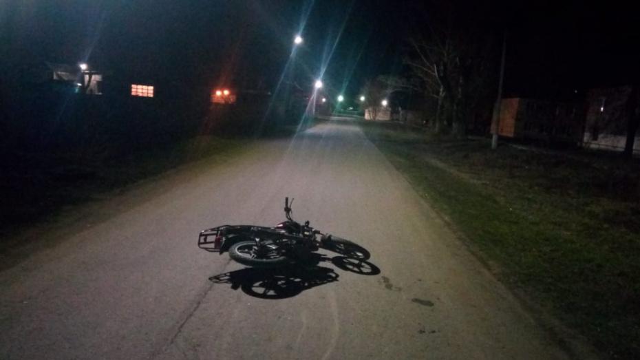 В ДТП в Панинском районе пострадал 16-летний мотоциклист