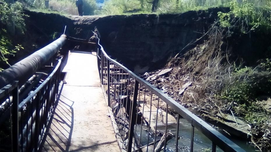 На Юго-Западном кладбище Воронежа обрушился мост через овраг