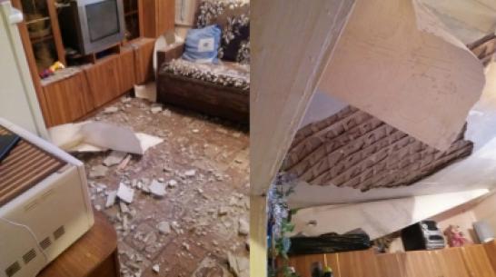 В воронежском общежитии обрушился потолок в комнате