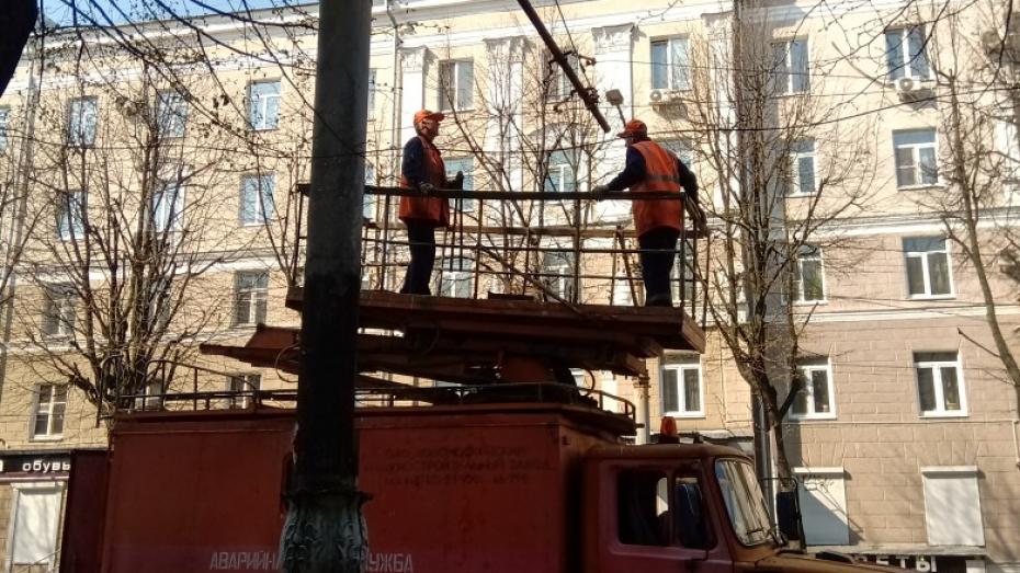 Администрация Воронежа прокомментировала демонтаж троллейбусных электролиний на улице Мира