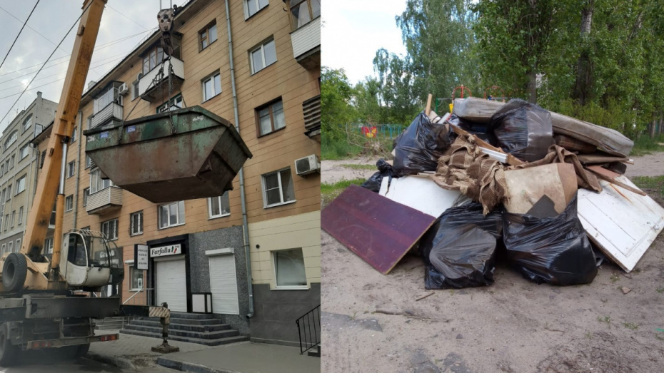 Воронежские УК в мае выгребли из подвалов и чердаков МКД кучу мусора с двухэтажный дом