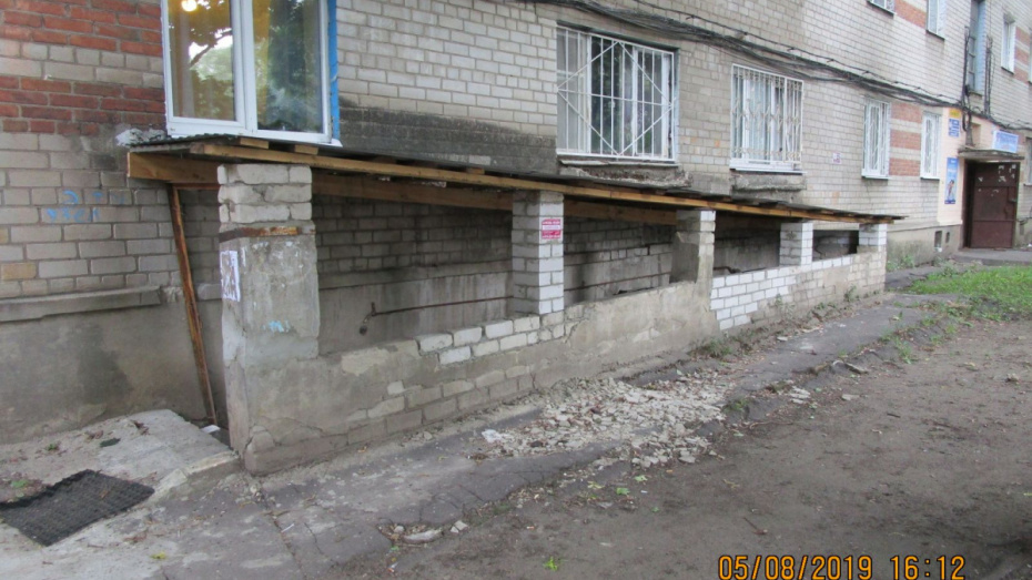 В Воронеже УК восстановила разрушенный вход в подвал дома после проверки жилинспекции