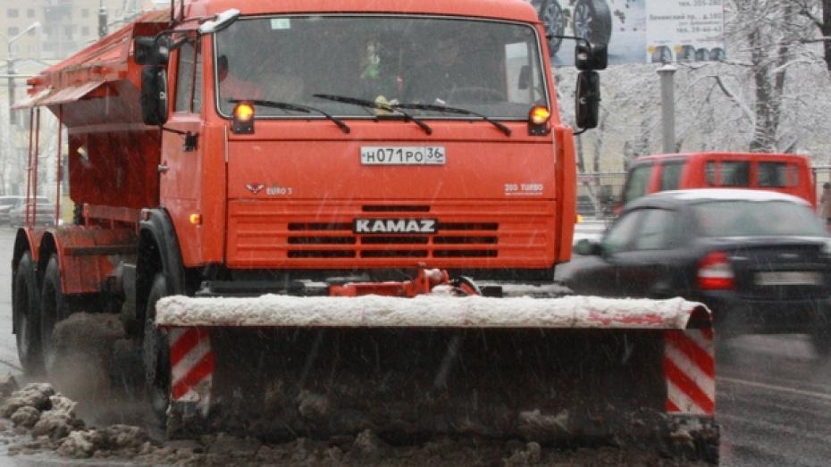 5481 тонна пескосоляной смеси израсходована для обработки дорог за выходные в Воронежской и Липецкой областях