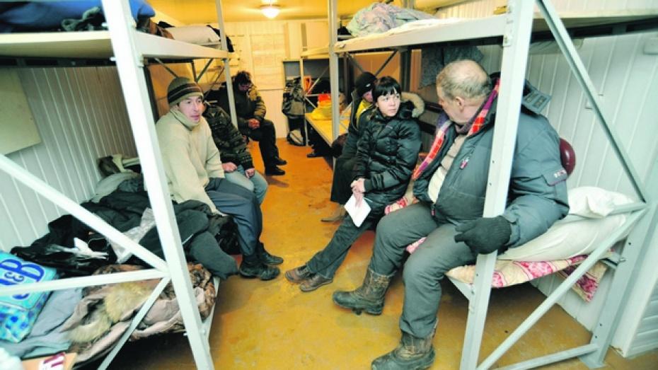При - 20 и ниже воронежских бездомных обогреют власти