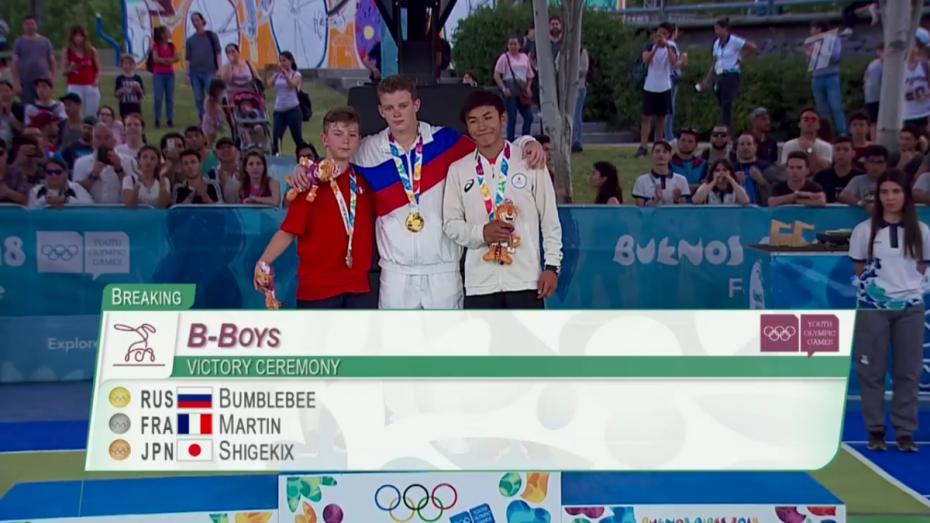 Воронежец стал первым олимпийским чемпионом по брейк-дансу