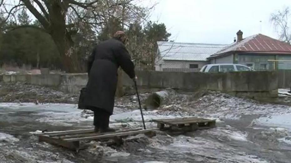 В Нововоронеже Аленовский ручей затопил огороды и подвалы домов частного сектора