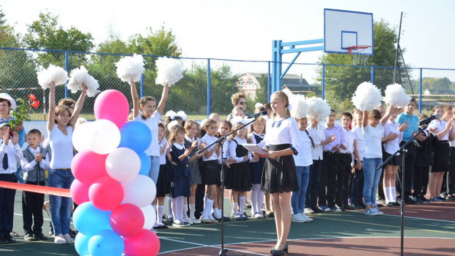 В Острогожском районе открыли 11-ю спортплощадку