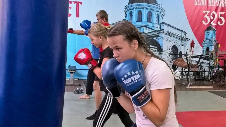 В таловском селе Верхняя Тишанка открыли секцию женского бокса
