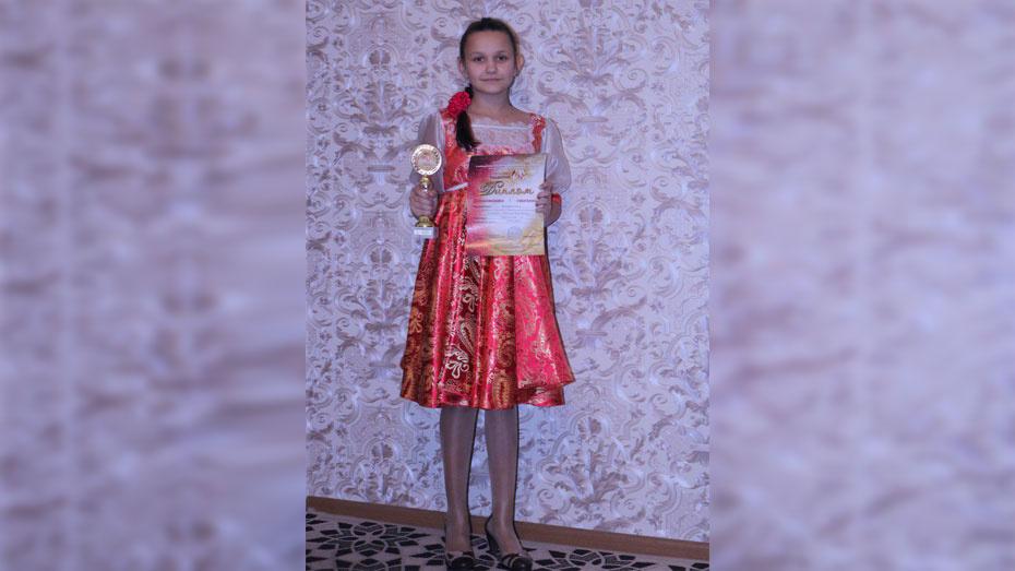 Панинскую школьницу отметили на V Международном творческом фестивале «Поколение талантов»