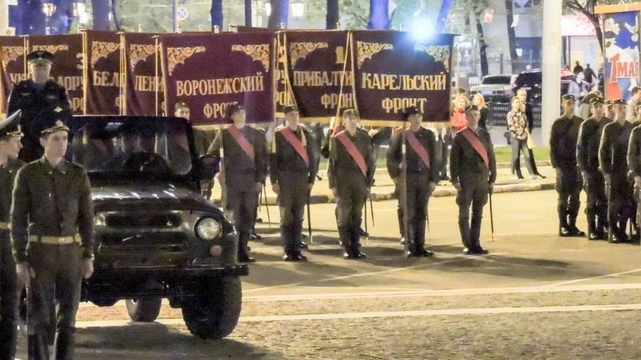 Воронежцы увидели ночную репетицию парада Победы