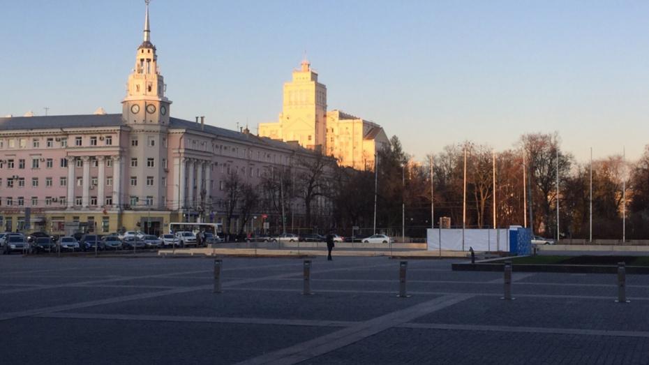 Каток на площади Ленина в Воронеже откроют к 25 декабря