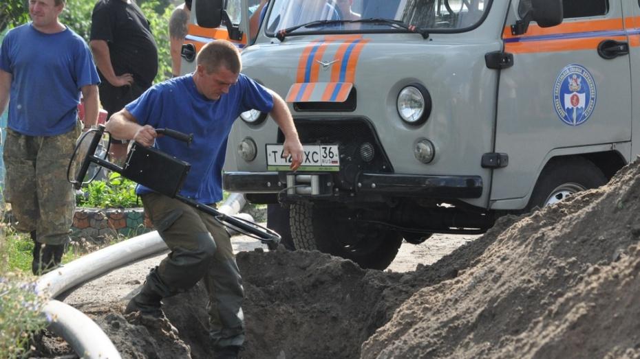 На репьевской улице нашли 14 снарядов времен войны