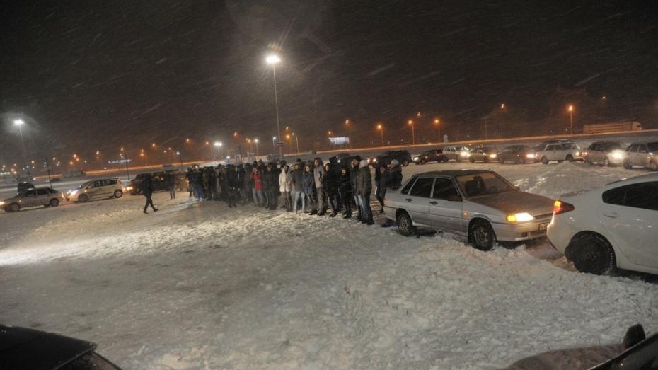 Граждане Воронежа построят новогоднюю композицию измашин