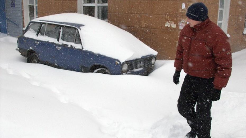 В Воронеже пенсионера, умершего во дворе своего дома, полностью замело снегом