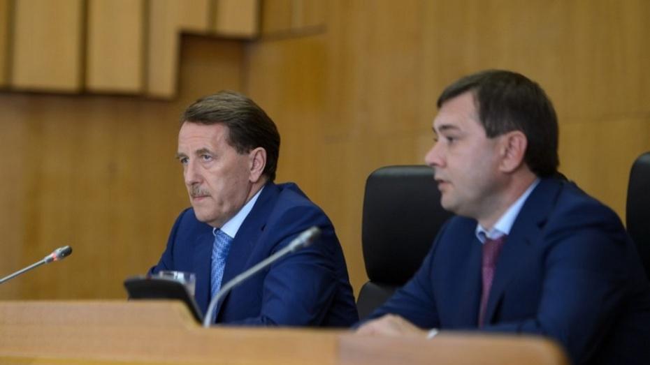 Алексей Гордеев призвал воронежских депутатов поработать летом