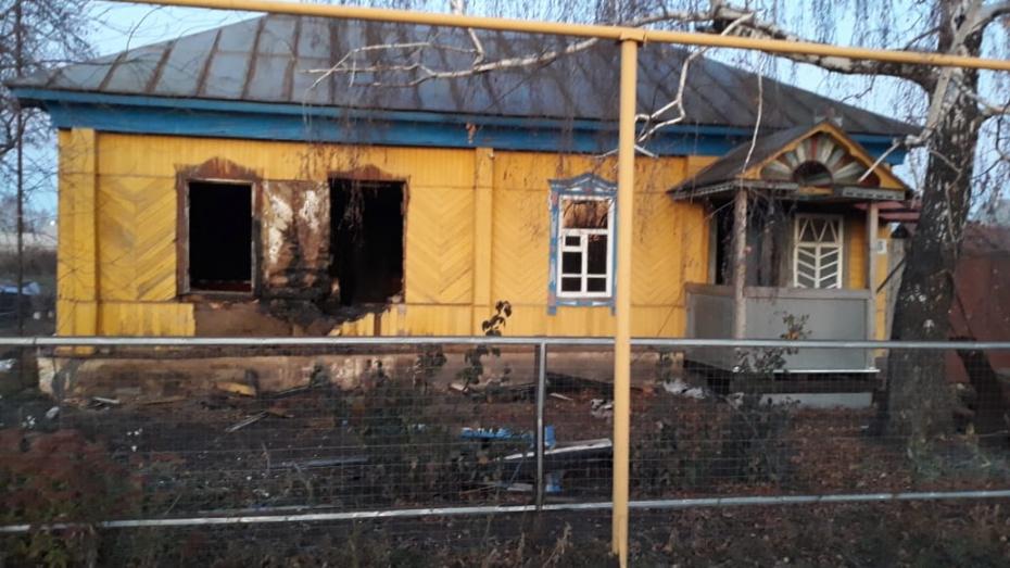 В Грибановке при пожаре в частном доме погибли 2 мужчин