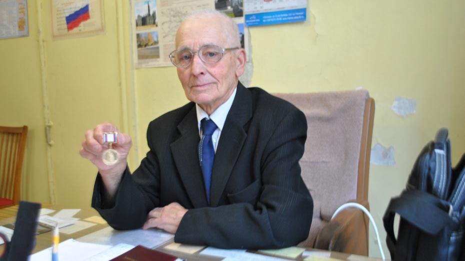 Председатель Семилукского райсовета ветеранов получил медаль «Патриот России»