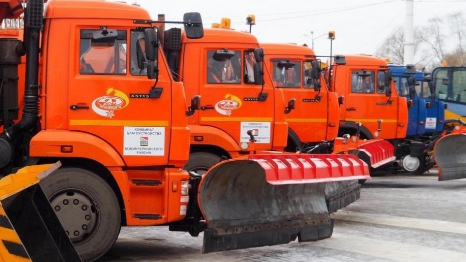 ВВоронежской области снег сулиц будут убирать неменее 500 спецмашин