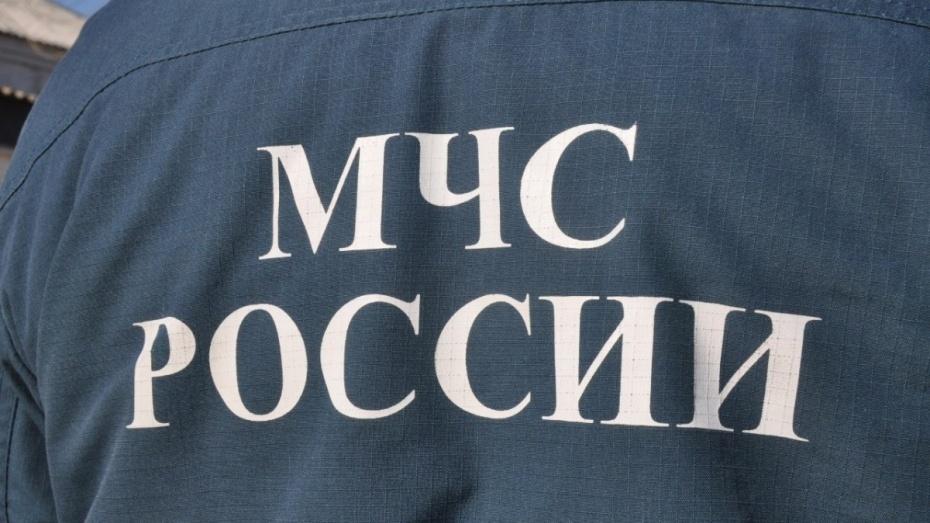 Под Воронежем спасатели помогли водителю перевернувшегося манипулятора