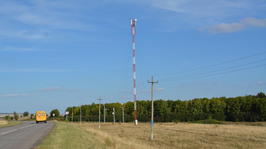 В воробьевском селе Нижний Бык установили вышку сотовой связи