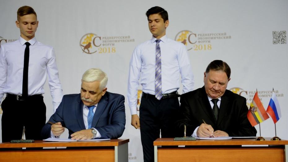 Воронежская и Курская области договорились о сотрудничестве