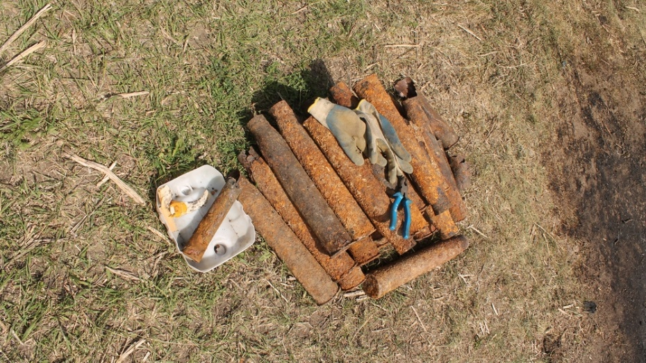 В Хохольском районе нашли более 200 боеприпасов времен Великой Отечественной войны