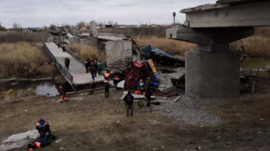 В Воронежской области на время ремонта обрушившегося моста организуют понтонную переправу