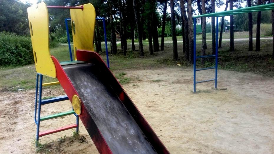 В калачеевском селе Ширяево вандалы подожгли детскую горку