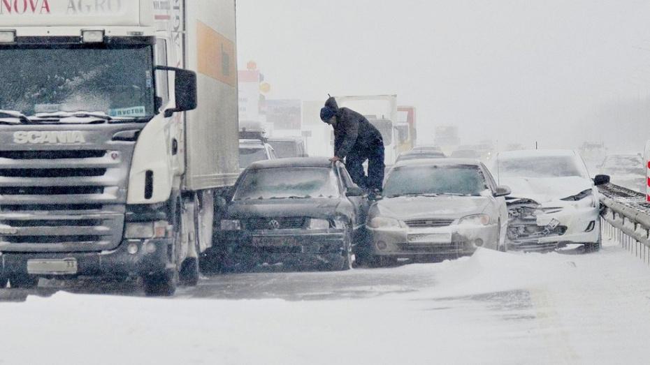 На трассе «Дон» под Воронежем случился транспортный коллапс (ФОТО)