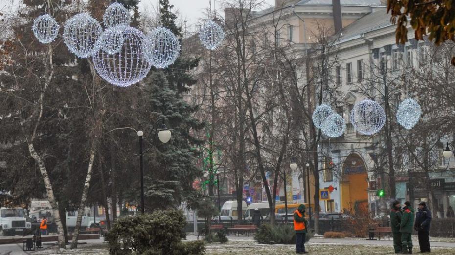 Кольцовский сквер в Воронеже украсят уникальные новогодние шары