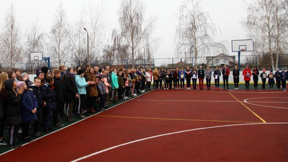 В Острогожске открыли многофункциональную спортплощадку